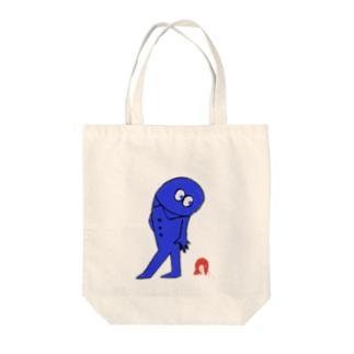 えびひろい1にちめのドクントックンくん Tote bags