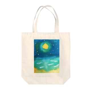 sea the moon Tote bags