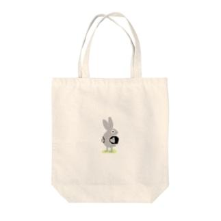 下校中のウサギ Tote bags