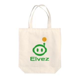 ロゴ 縦 Tote bags
