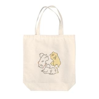いぬぽめの3ポメ トライアングル Tote bags
