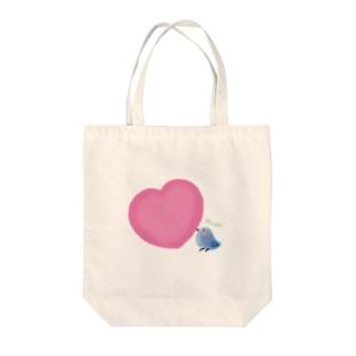 【愛を運ぶ】アオイトリ Tote bags