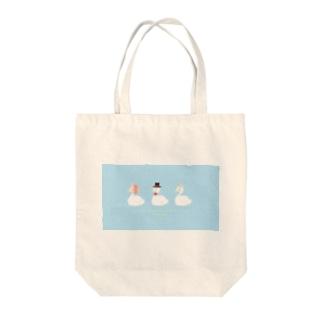3人デート日和 Tote bags