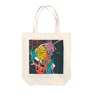 活気グラフィック「ジャングル」 Tote bags