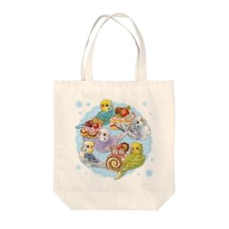 ケーキとセキセイインコ Tote bags