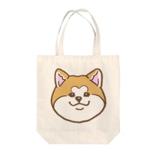 ソフト秋田犬 Tote bags