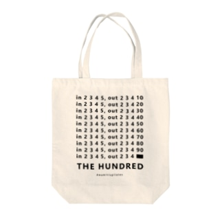 #mamitispilates「THE HUNDRED」ブラック Tote bags