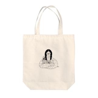包帯まきまきちゃん Tote bags