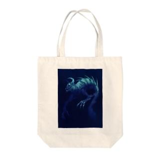 SEA monster Tote bags