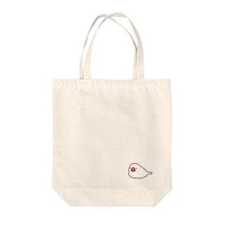 ねぶん(しろ) Tote bags