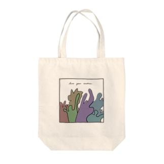 感情を生きろ Tote bags