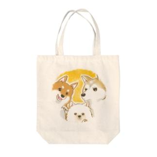 仲良し三犬組 Tote Bag