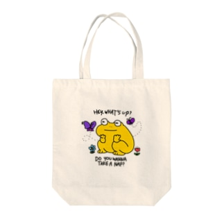 さぼりガエル Tote bags