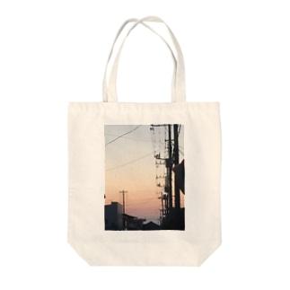 淡い夕焼け Tote bags