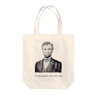 リンカーン(白限定) Tote bags
