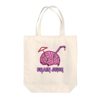 BRAIN JUICE Tote bags
