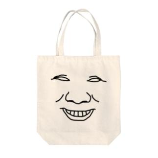 俺の顔① Tote bags