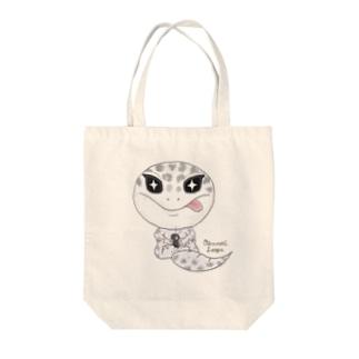 おすわりレオパ(ごましおくん) Tote Bag