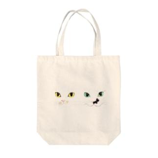 モズ&オム2匹の微妙な距離感 Tote bags