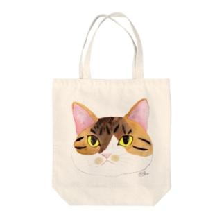 もずく秘書のフェイス Tote bags
