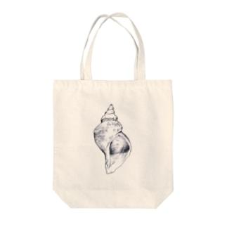 渡辺勇の巻貝 Tote bags