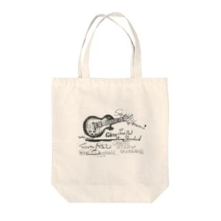 ギブソンレスポール Tote bags