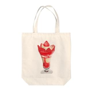 いちごのパフェ Tote bags