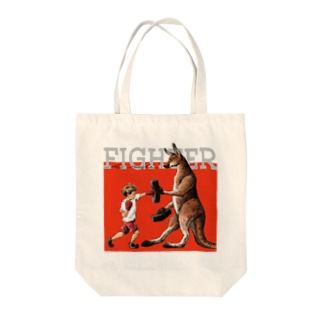 FIGHTER Tote bags