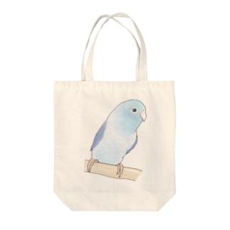 おしゃまなマメルリハのるりちゃん【まめるりはことり】 Tote bags