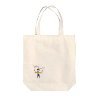 ドラマーくん Tote bags