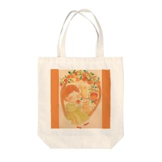 実りの秋 林檎🍎 Tote bags