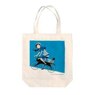 ねこちゃり Tote bags