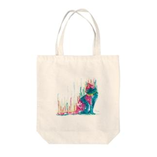 ネコ_cat.1_watercolor Tote bags