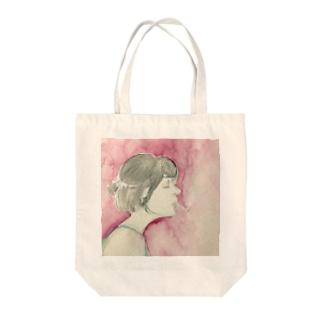 のほほんフェイス Tote bags