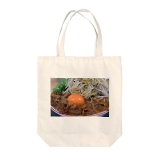 ラーメン 徳島 肉 おもしろ ギャグ ご当地 Tote bags