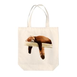 Animals シリーズ 〜レッサーパンダ〜 Tote bags