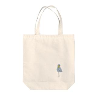 ハシビロコウ Tote bags