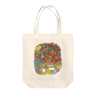 グログロのカラフル Tote bags
