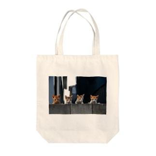 kitten gang Tote bags