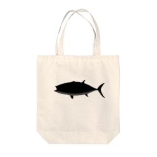 クロマグロのクマロくん^^ Tote bags