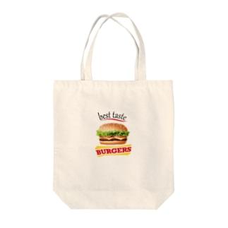 美味しいハンバーガー Tote bags