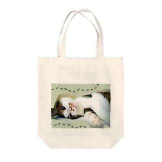 老猫にゃあ Tote bags