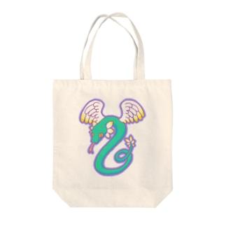 ケツァルコアトル Tote bags