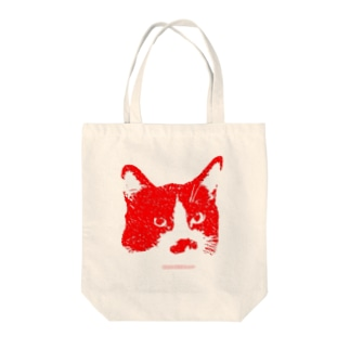 Kissy@Smiley/髭ニャンコ Tote bags