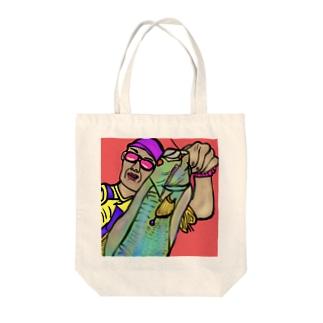 ラスボスアングラー【釣りを愛する全ての人へ】 Tote bags