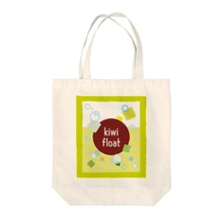 kiwi float Tote bags