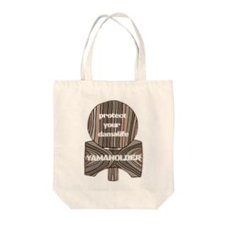 ヤマホル Tote bags