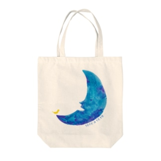 青い三日月 Tote bags