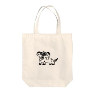 イタズラっこなブチハイエナ Tote bags