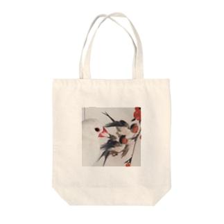 文鳥ハルちゃんの浮世絵鑑賞 Tote bags